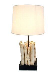 Old Wood Table Lamp - 25cm