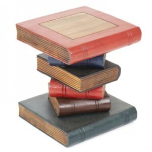 painted stacked books stool