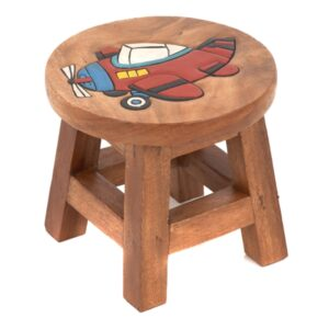 Childs Stool - Plane Red