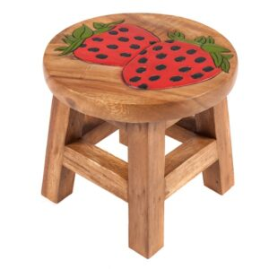Childs Stool - Strawberry
