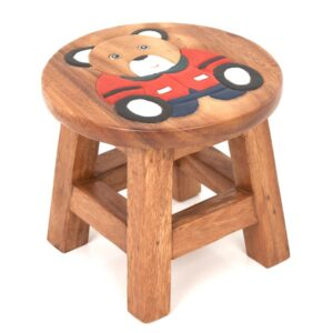 Childs Stool - Sitting Teddy