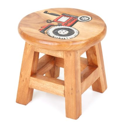 Kids Stool with Tractor Design