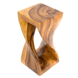 Twisted Infinity Stool - Honey - Small