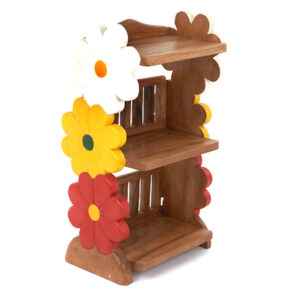 Childs Book Shelf with Flower Design