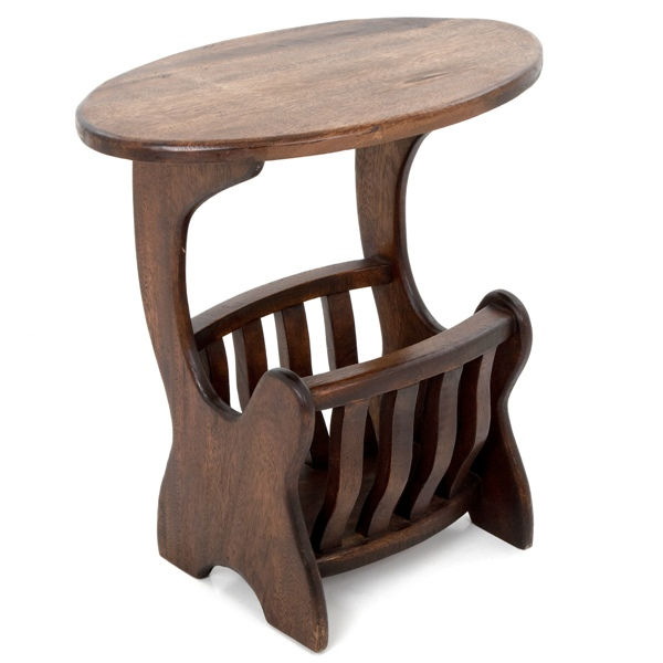 small table with magazine rack darksmall table with magazine rack dark - Dark Wooden Side Tables