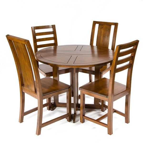 Accent Round Folding Table - Dark
