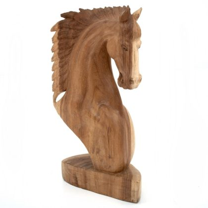 60cm Wooden Horse Head