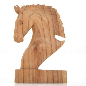 20cm Wooden Horse Head