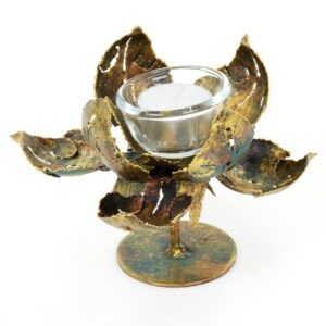 Small Stemed Lotus Candle Holder