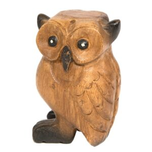 Large Wooden Owl
