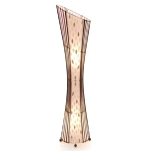 Oval Sexy Bamboo & Flower Shell Floor Lamp  - 150