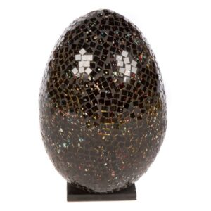 Mosaic Egg Lamp 28cm - Black