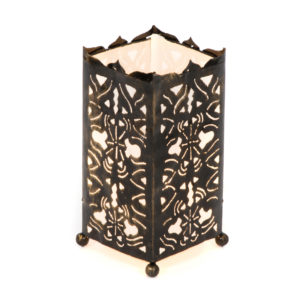 Metal Bamboo Motive - White