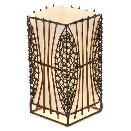 Small Wicker and Rattan Table Lamp - 30cm