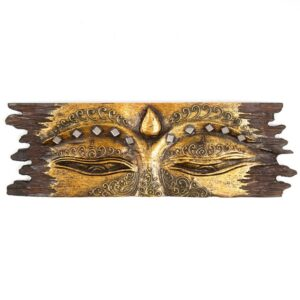 Gold Buddha Eyes Rough Edge - 1m