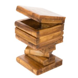 Book Stack Storage Table - Waxed