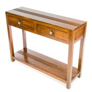 Guinea 2 Drw Console Table - Dark
