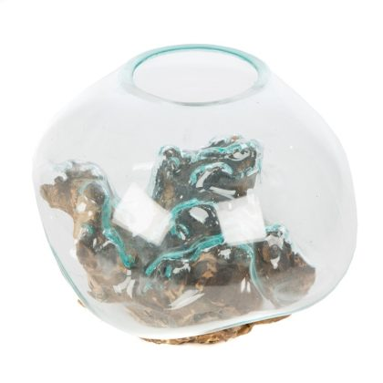 Glass Sculpture On Wood