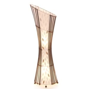 Oval Sexy Bamboo & Flower Shell Floor Lamp  - 100