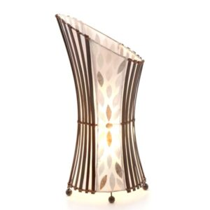 Oval Sexy Bamboo & Flower Shell Floor Lamp - 50