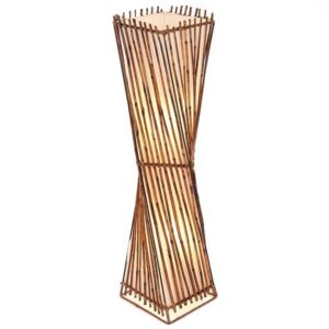 Twisted Rattan Flare Floor Lamp - 100cm