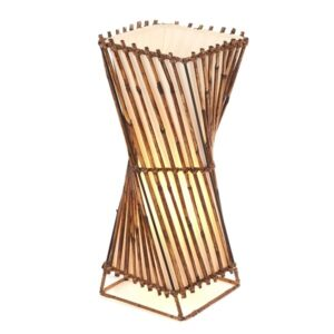 Twisted Rattan Flare Lamp - 50cm